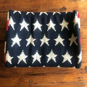 Women's knitted acrylic Stars and Stripes American scarf